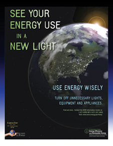 Earth Day Poster: See Your Energy Use In A New Light