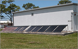 Photo of a solar heating system.
