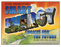 Earth Day Poster: Smart Energy Choices for the Future.