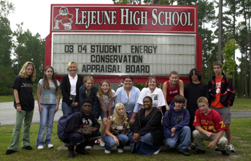 Photo of Camp Lejeune High School students.