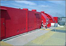 Foto de usina de energia geotérmica.