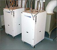 Dois comerciais de 36 ton bombas de calor geotérmicas sendo usada no College of Southern Idaho.