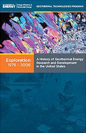 Capa do volume 1 de A História de Pesquisa e Desenvolvimento de Energia Geotérmica nos Estados Unidos, 1976-2006.